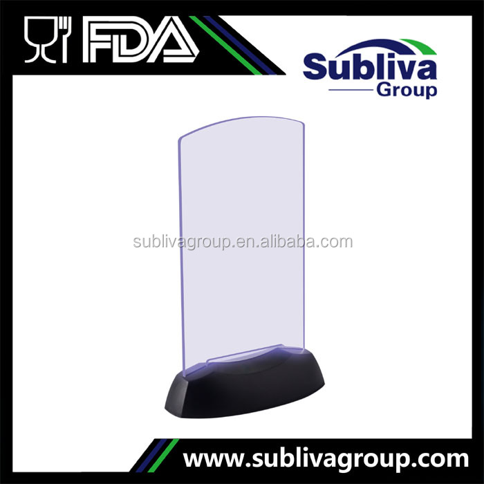 Manufacturer Flashing Light LED Acrylic Menu