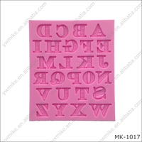 Silicone alphabet with figure mold fondant cake DIY 3d silicon mould Wholesale
