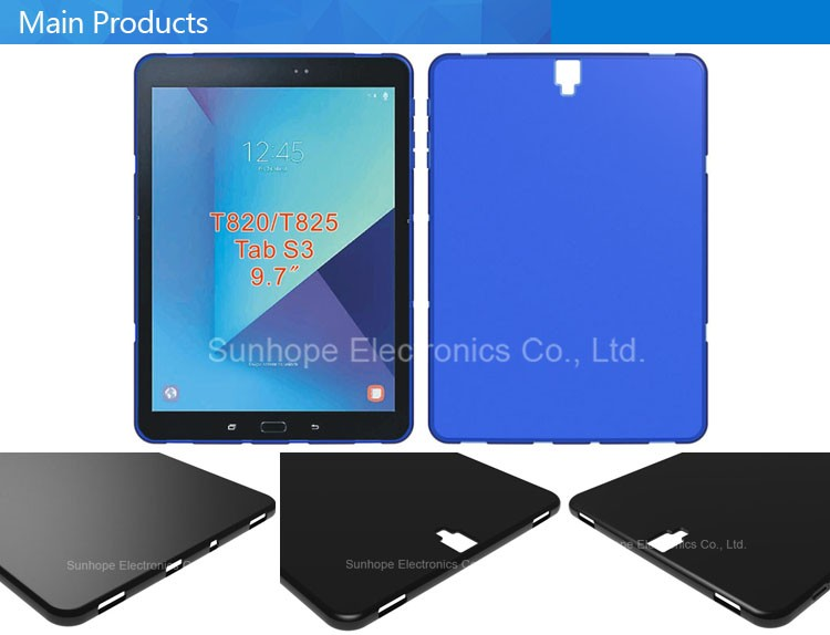 matte frosted deisgn tpu soft silicone phone case for SAMSUNG TAB S3(9.7)T820 T825 soft cover