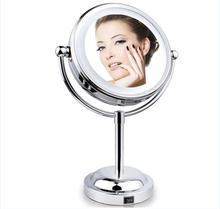 6 Inch Double Sides Vanity Tabletop Magnification LED Makeup Mirror with Light
