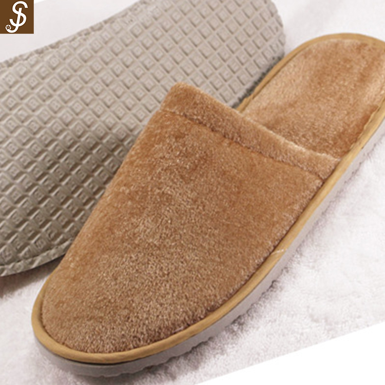 S&J high quality 100% cotton comfortable hotel gel slipper