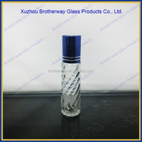 8ml refillable cosmetic roll on glass bottle