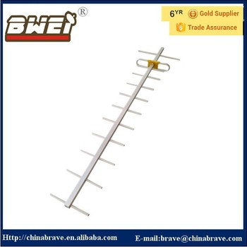 HIGH STABILITY 12elements outdoor UHF yagi antenna 470-860MHz WITH CABLES for Africa Market