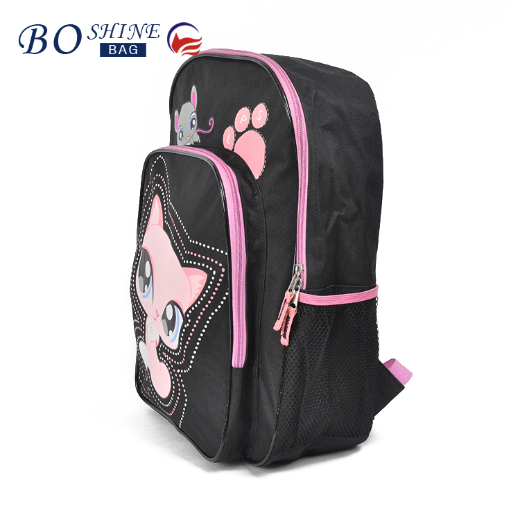 OEM promotional latest design waterproof PVC 3D cartoon school bag trendy backpack for teenagers