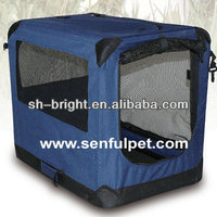 Soft Sided Pet Carrier Pet House Dog Travel Crate Blue Pen