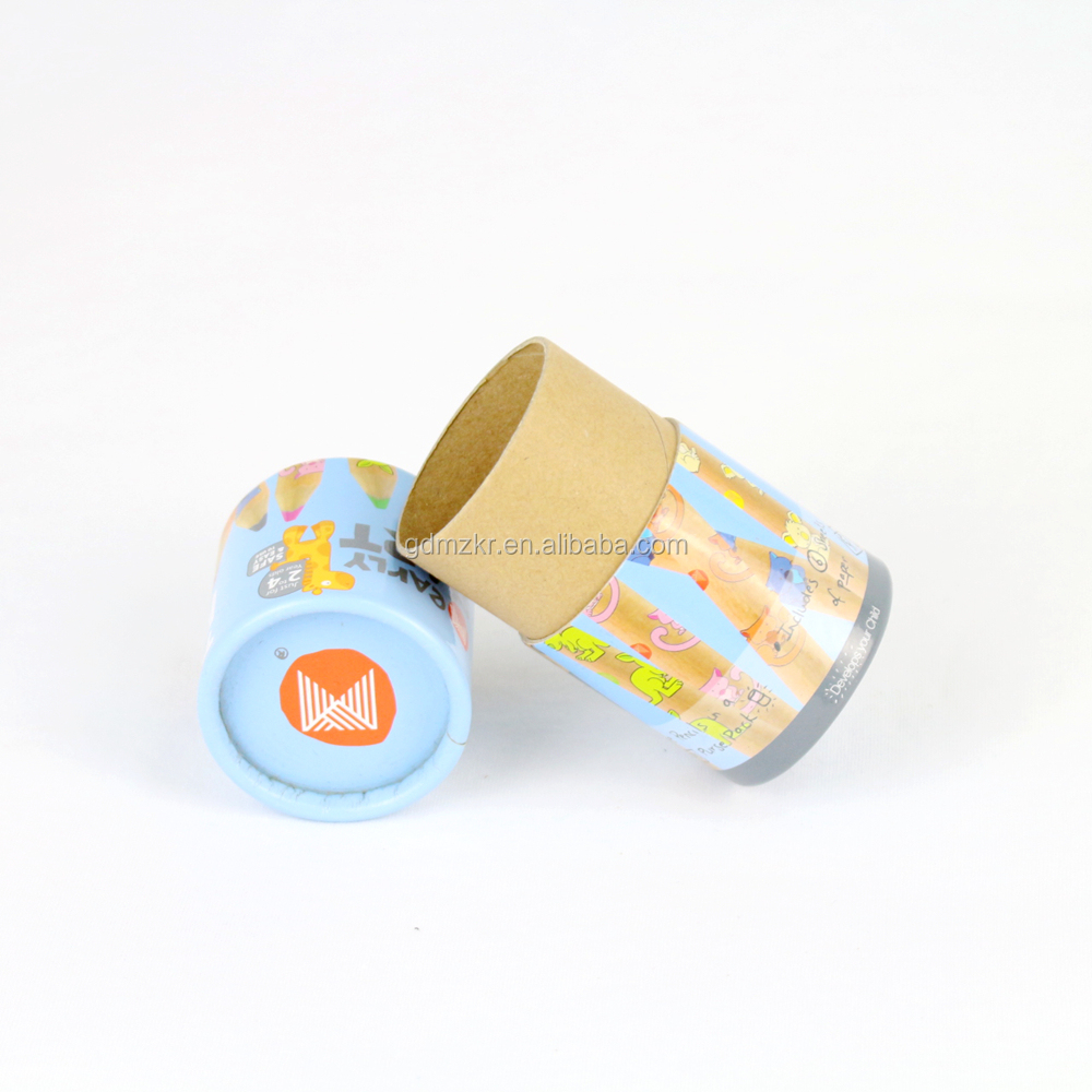 Children Pencil package paper round gift pencil tube