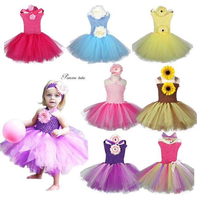 Princess Dress Bridal Party First Birthday Dresses Children Clothing Baby Girl Tutu Dress