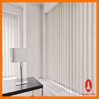 Curtain times Child Safety Pvc Vertical Blinds for Window Decorative