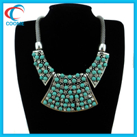 Classic Bead Antique Chunky Zinc Alloy Necklace