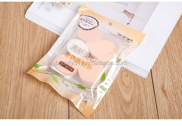 Wholesale Professional 5pcs Soft Exquisite Sponge Cosmetic powder puff