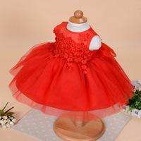 New Solid Princess Infant Baby Girls Christening Formal Tutu Dress For Infant Clothes Wholesale GD81128-87