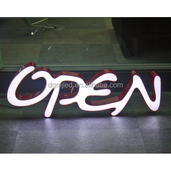 Outdoor led l acrylic light box open sign