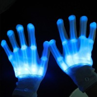 fashion led light flashing light gloves with led