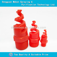 "3/8"" BSPT plastic dust control nozzle,500pcs of 3/8 pp spiral nozzle(Red color)"
