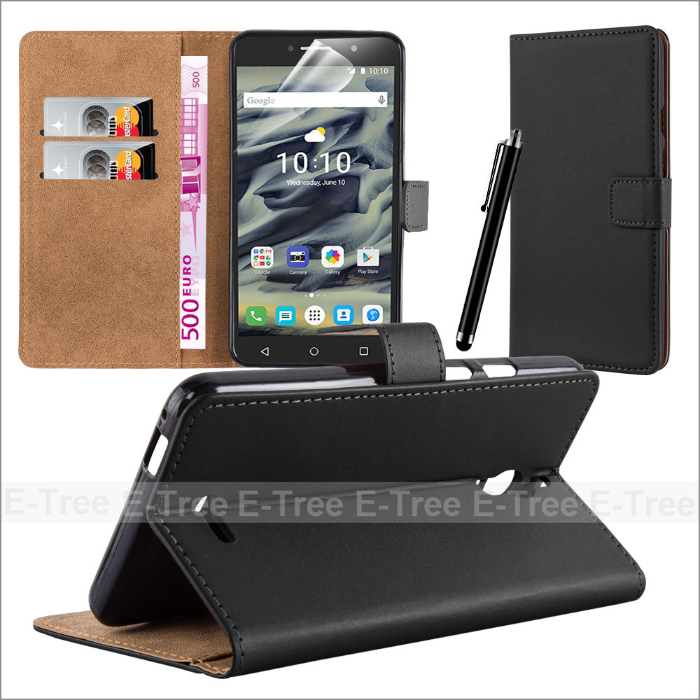 Wallet Leather Mobile Phone Case Back Cove for Alcatel Pixi 6.0