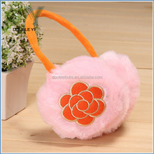 Whosale Winter Ear Warmers Earmuffs flower plush warm Ear Muff