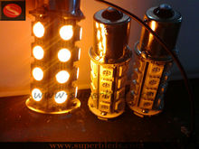 1156/1157 socket 5050 smd yellow motorcycle tail light