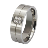 Fashionable jewelry stainless steel wedding rings for men