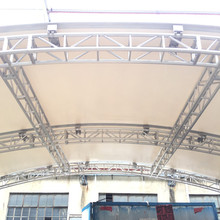 Big curved arched aluminum stage roof truss system for outdoor events