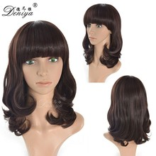 2016 Fashion Women Curly Wavy Hair wig, wavy jewish wig kosher wigs
