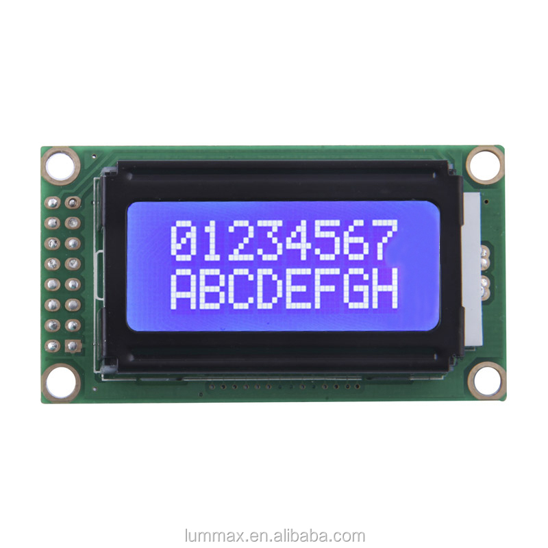 Character 8x2 Blue LCD