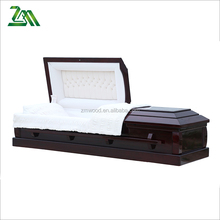 Solid poplar wood china casket manufactures