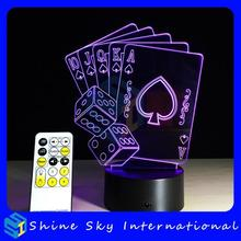 RGB colors changing night lamp light 3d,7 colors optical illusion lamp,led small night light with seven colors