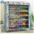 2015 New Fashion Sliding Door Fabric Shoe Rack Cabinet With Side Pocket