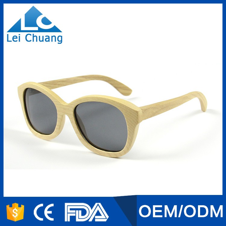 wholesale fashion and popular high quality polarized wood sunglasses