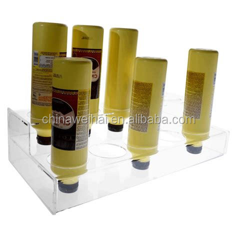 Two tiers Clear Acrylic Topping Dispenser