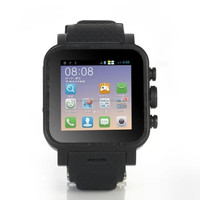 3G Smart phone Smart Watch RAM 1GB ROM 4GB Android 4.4 MTK6572 Dual Core 1.54 Inch GPS Wifi Smart Watch