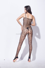 Sexy seamless hot net bodystocking women underwear open crotch