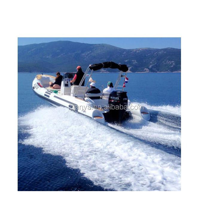 Liya Pvc Inflable Dinghy Consola De Dirección Barco 6.6 M Agua ...