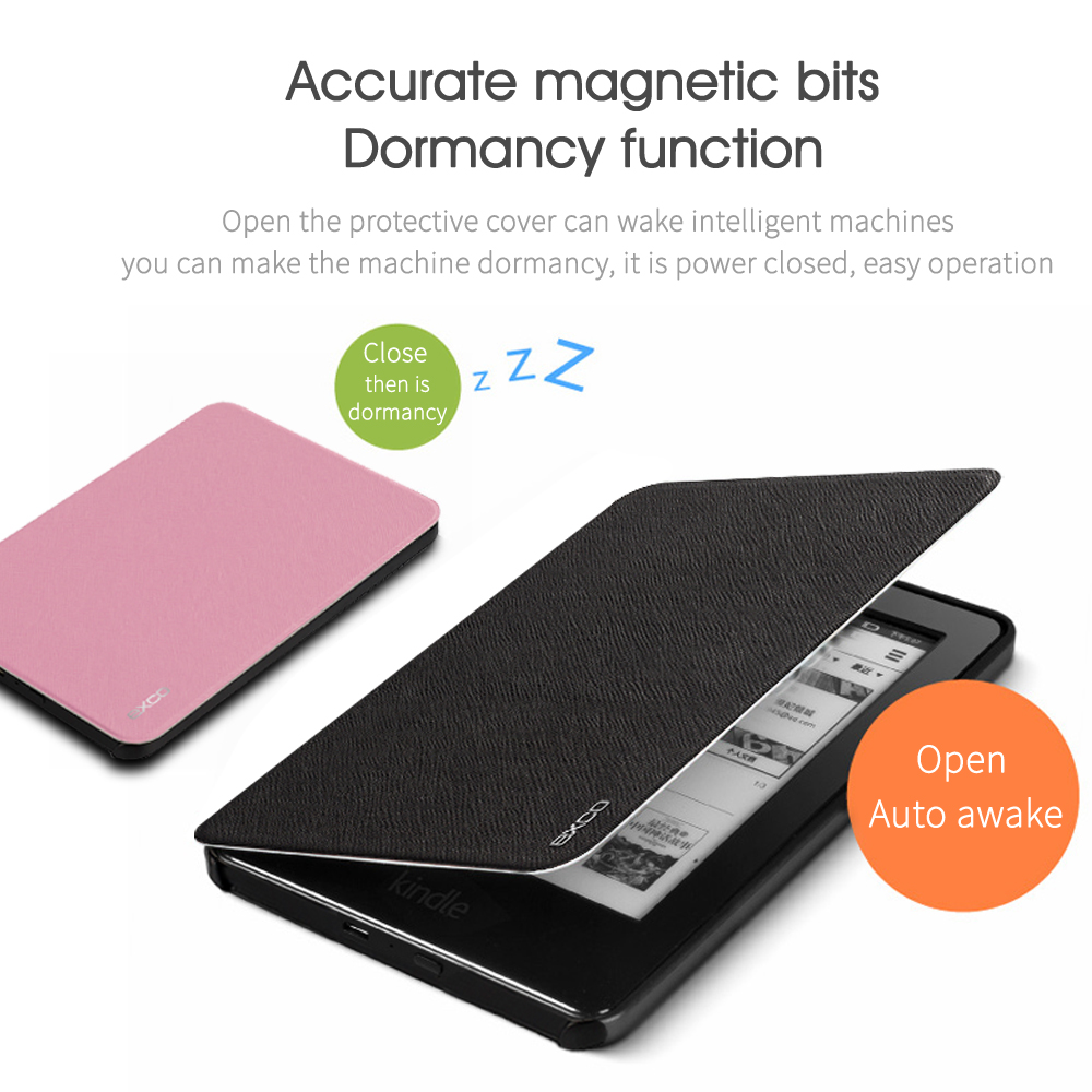EXCO Supply luxury genuine leather tablet cover for amazon kindle 6