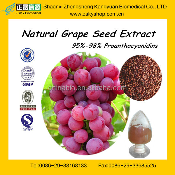 Pure Grape Seed Extract powder from GMP manufacturer (high orac value)