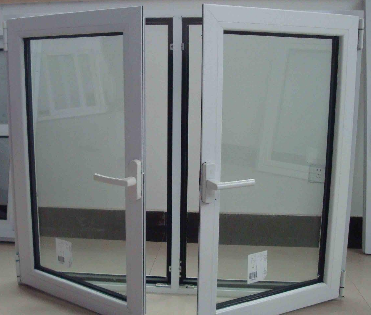 aluminum frame tempered safety glass casement window with grill design and mosquito net for residential house