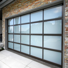 2017 hot sale USA standard aluminum frosted glass garage door with lowes prices