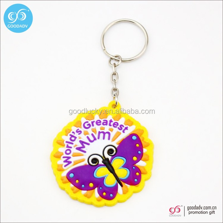 Plastic Keychain Wholesale Promotional Gifts Custom Rubber Keychain