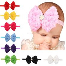 European Chiffon Embroidered Rose Flower Headbands Baby Diamond Photography Props Wedding Christmas <strong>Hair</strong> <strong>Accessories</strong>