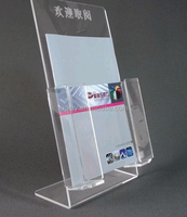 Tabletop A3 A4 A5 Clear Acrylic 8.5 X 11 Lucite Literature Document Brochure Holder for Magazine Display