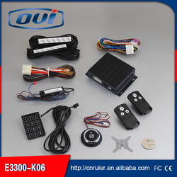 auto car engine start stop PKE keyless entry system with push start button and remote start of learning code