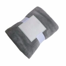 House Soft Coral Fleece Blanket, Grey Microfiber Bedspreads