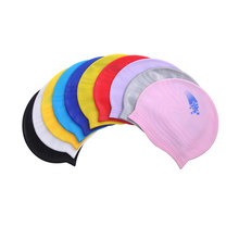 1PC MOQ Printing Design Funny Adult Custom Silicone Swim Cap