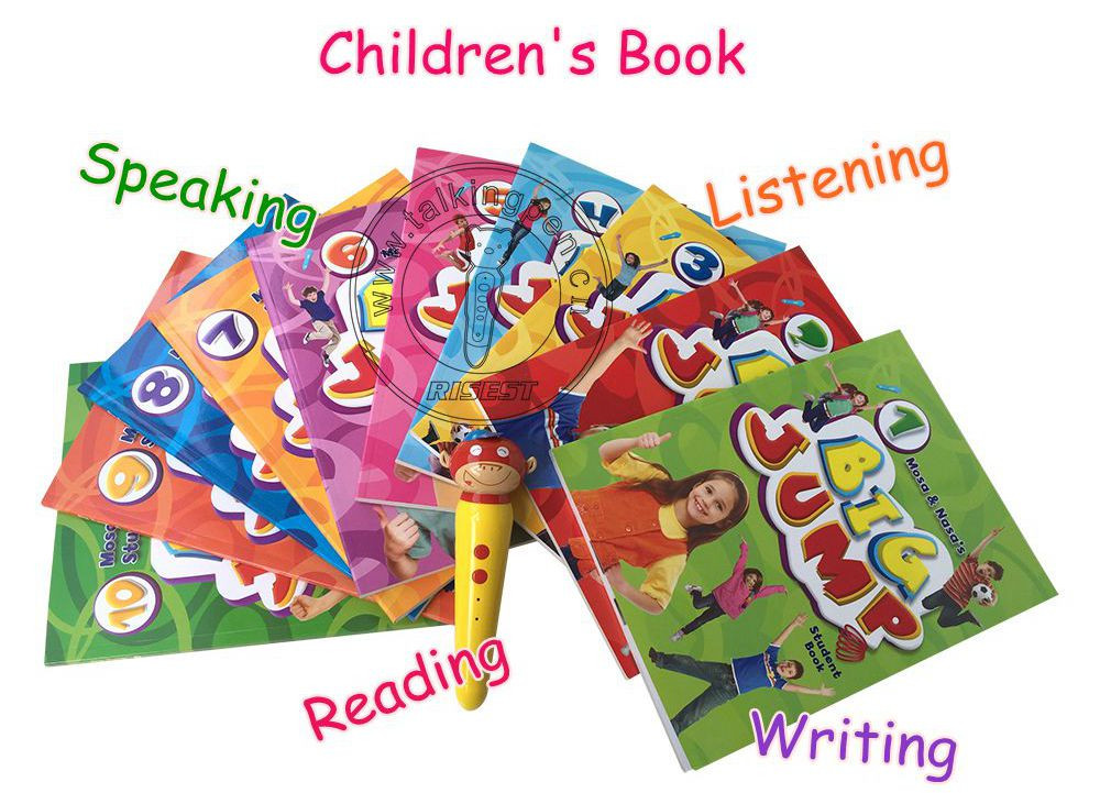 Children Audio Toys Speaking Pen and Real-man Recording English Books Big Jump for 6-12 Years Kids
