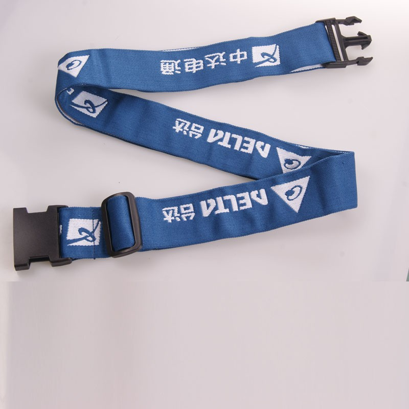 Adjustable customized polyester travel personalized luggage straps