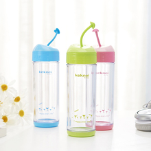 Bpa free mini collapsible silicone kids water bottle