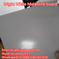 high gloss White Melamine plywood furniture grade , Melamine MDF or Particle board