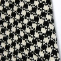 Fashion Black White Deformation Houndstooth Fabric