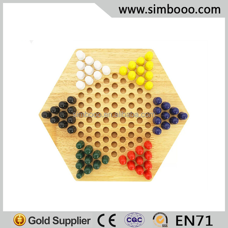 High-class Wooden Chinese Checkers Halma Indoor Game Educational Toys Chess Game