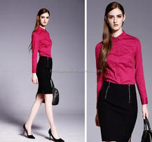 Wholesale solid color women new styles formal office uniforms for ladies